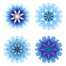 Free Four Snowflakes Royalty Free Stock Image - 27463896