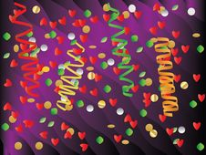 Free Paper Streamer And Confetti Royalty Free Stock Images - 27464259