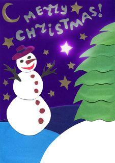 Free Snowman Royalty Free Stock Photo - 27464445