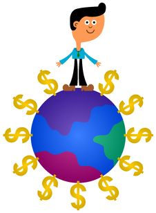 Global Earnings Royalty Free Stock Photos