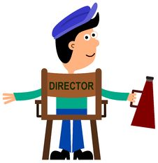 The Director Stock Photo