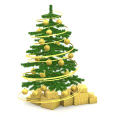 Free Christmas Fir-tree Stock Image - 27465271