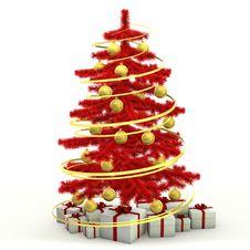 Free Christmas Fir-tree Stock Photography - 27465292