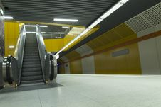 Free Metro Station Escalators Royalty Free Stock Image - 27467836