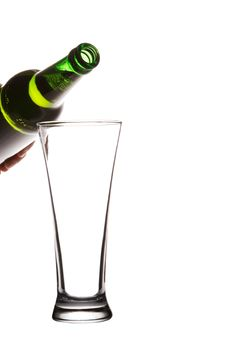 Free Bottle And Glass  On White Stock Image - 27468911