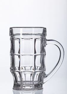 Free Empty Beer Glass  On White Royalty Free Stock Photos - 27469038