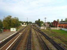 Free Rails On A The Sleepers Stock Photography - 27469692