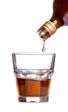 Free Whiskey Being Poured Into A Glass Royalty Free Stock Image - 27469876