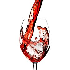 Free Red Wine Splash Stock Images - 27469884
