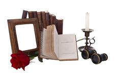 Free Still Life With Antique Books And Picture Frames Royalty Free Stock Images - 27469999