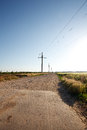 Free Rural Road And The Blue Sky Royalty Free Stock Photos - 27471158