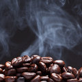 Free Coffee Bean With Smoke Stock Photo - 27471600