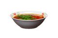 Free Ukrainian Borsch With Greens On A White Stock Images - 27471674
