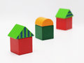 Free Three Toy Houses Stock Image - 27477111
