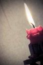 Free Burning Candle Royalty Free Stock Photo - 27477565