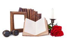 Free Still Life With Antique Books And Picture Frames. Royalty Free Stock Images - 27470009