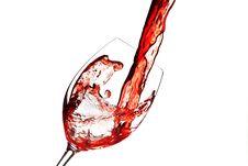 Free Red Wine Splash Royalty Free Stock Photos - 27470038