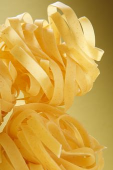 Free Italian Pasta Close-up On Yellow Gradient Stock Photos - 27471283