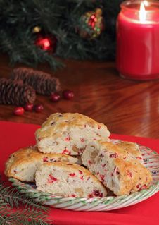 Free Cranberry And Nut Scones Royalty Free Stock Image - 27471326