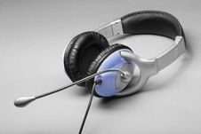 Free Headphones With A Microphone Stock Photography - 27471622