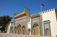 Golden Doors In Fez Stock Photo