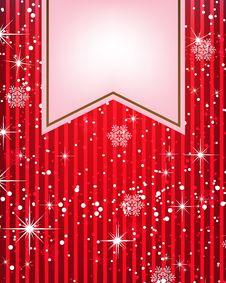 Christmas Restaurant Menu Stock Photography