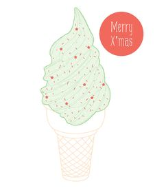 Free Christmas Ice Cream Royalty Free Stock Photography - 27473327