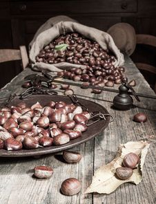 Free Still Life With Chestnuts Stock Photos - 27474383