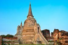Pagoda Of Ayuthaya Temple Royalty Free Stock Photography