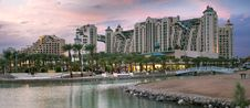 Free Panoramic View On Resort Hotels Of Eilat, Israel Stock Image - 27475351