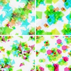 Free Set Of Modern Seamless Patterns. Royalty Free Stock Photography - 27486017