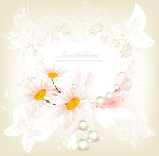 Free Flower Invitation Card Stock Photos - 27486893