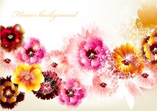 Free Flower Vector Background Stock Photos - 27487103