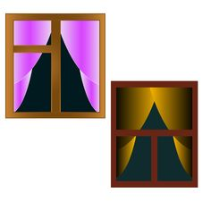 Free Two Interesting Windows Royalty Free Stock Image - 27487166