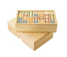 Free Wooden Domino In Box Stock Photography - 27487452
