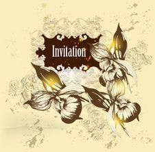 Free Vintage Vector  Invitation Card Stock Photo - 27487560