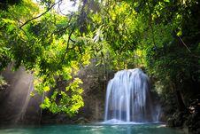 Free Waterfall In Kanchanaburi, Thailand Stock Photos - 27488893
