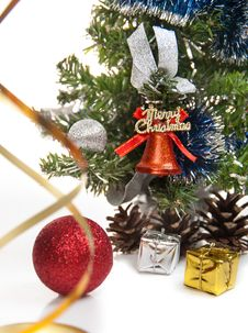 Free Gifts,cones,Christmas Ball,serpentine Stock Images - 27489724