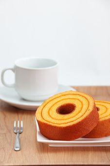 Free Sponge Cake, Orange Stock Photo - 27489850