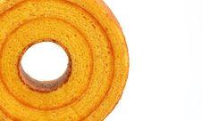 Free Sponge Cake, Orange Royalty Free Stock Photos - 27489898