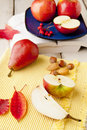 Free Apples And Pears On Wood Table Stock Photo - 27498180
