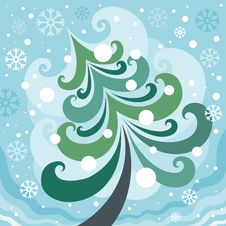 Free Winter Christmas Tree Stock Photography - 27490502
