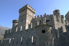 Walls Of Castle Royalty Free Stock Image