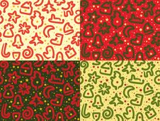 Free Four Christmas Snakes Seamless Patterns Stock Photography - 27494262