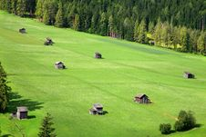 Free Green Pastures - Sexten - Italy Royalty Free Stock Images - 27494749