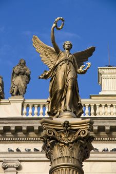Statue With Wings Stock Image