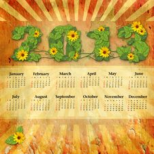 Free Vintage Calendar 2013 Royalty Free Stock Photos - 27495788