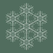 Free Seamless Snowflakes Background Stock Photo - 27496090