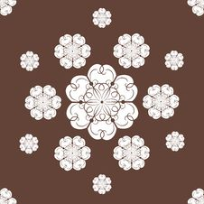 Free Seamless Snowflakes Background Stock Photography - 27496092