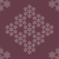 Free Seamless Snowflakes Background Stock Image - 27496101